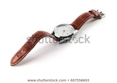 Pas cher mécanique isolé blanche horloge Photo stock © digitalr