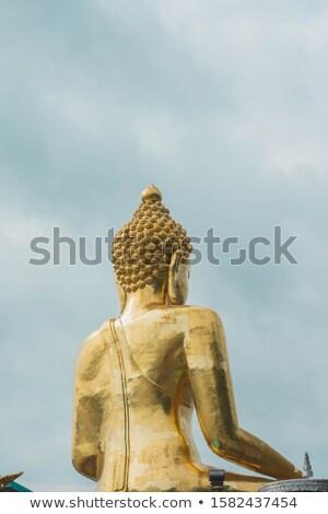 Buda lan belo dourado estátua bancos Foto stock © Yongkiet