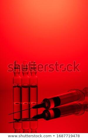 Panzehir tıbbi kırmızı bulanık metin stetoskop Stok fotoğraf © tashatuvango