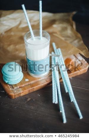 青 ガラス ミルク フランス語 木材 ボード ストックフォト © Sibstock