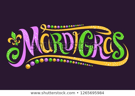mardi gras lettering text for greeting card stock photo © orensila