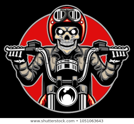 Skeleton Rider On Chopper Stock photo © derocz
