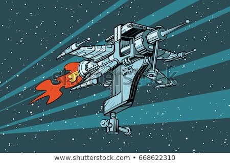 foguete · espaço · navio · azul · céu · fogo - foto stock © studiostoks