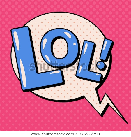 Lol komik kelime pop art Retro kitap Stok fotoğraf © studiostoks