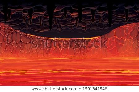 Hot piekła twórczej martwa natura kubek palenie Zdjęcia stock © Fisher