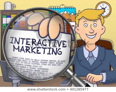 Sms реклама болван стиль Сток-фото © tashatuvango