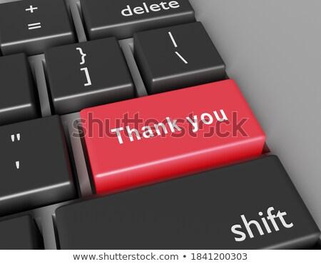 Keyboard with Red Keypad - Thank You. 3D. Stock photo © tashatuvango