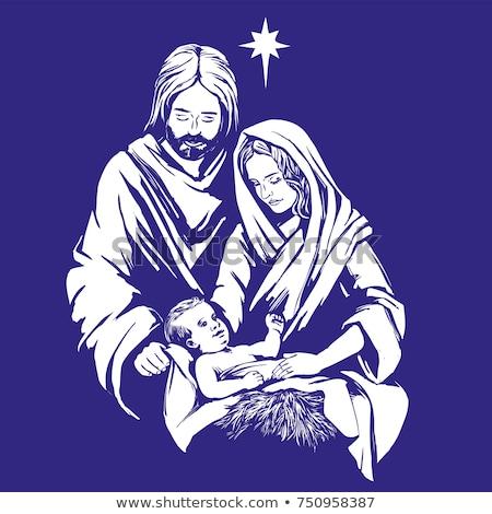 クリスマス · 抽象的な · 実例 · 処女 · 赤ちゃん · イエス - ストックフォト © krisdog