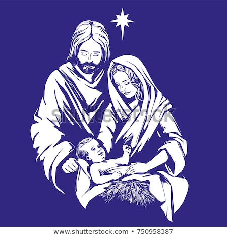 Nativity Mary and Joseph Christmas Illustration Stock photo © Krisdog