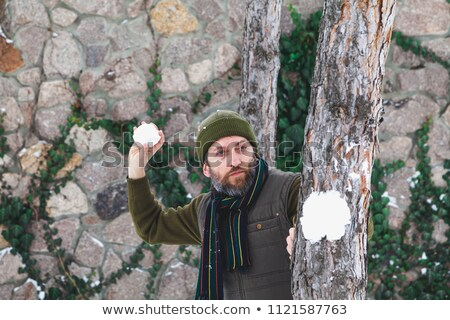 Man Comming out of Hiding Stock photo © filipw