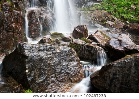 scene with waterfall and river running down stock photo © bluering