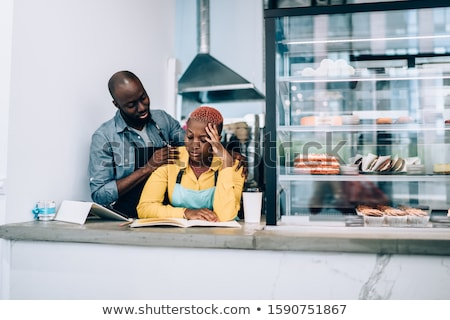 man consoling work colleague stock photo © is2