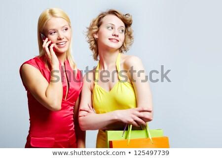 Káprázatos portré kettő gyönyörű hölgyek nő Stock fotó © konradbak