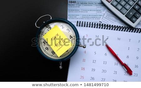 czasu · zegar · biały · czerwony · czarny - zdjęcia stock © oakozhan