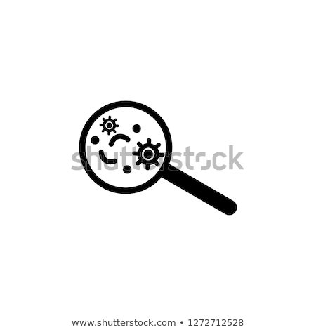 Stock photo: Round Green Cell with Microorganisms Vector Icon