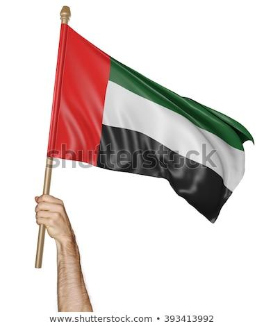 Arap · bayrak · kalp · şekli · ikon · örnek · kalp - stok fotoğraf © rogistok