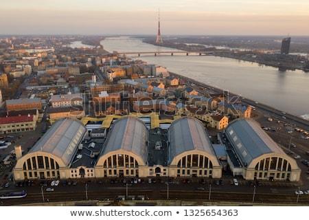 Riga Central Market - aerial view Stock photo © benkrut