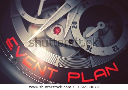Event Plan on Luxury Pocket Watch Mechanism. 3D. Stock photo © tashatuvango