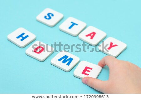 Game tile letters spelling home Stock photo © IS2