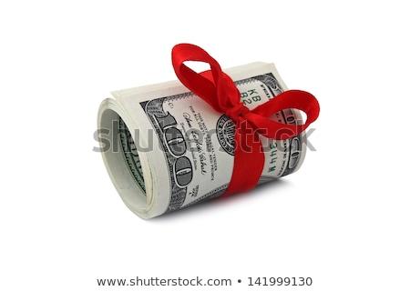rulo · dolar · yalıtılmış · beyaz · kâğıt - stok fotoğraf © is2