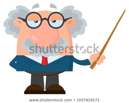 Hoogleraar wetenschapper ontwerp geïsoleerd Stockfoto © hittoon