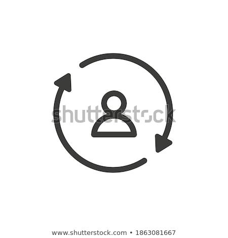 Perfil personas vector web elemento circular Foto stock © rizwanali3d