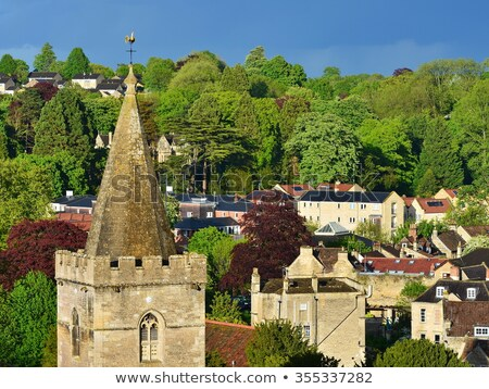 view of a village church stock photo © is2