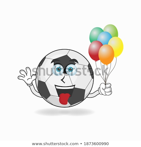 Angry Black And White Balloon Cartoon Mascot Character Stock photo © hittoon