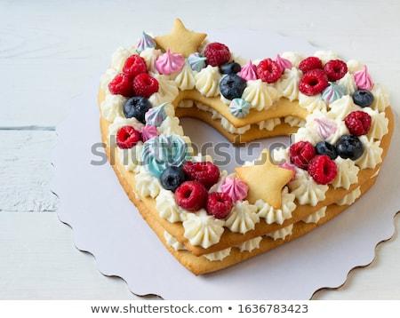 формы сердца слово любви домашний красные розы Сток-фото © Melnyk
