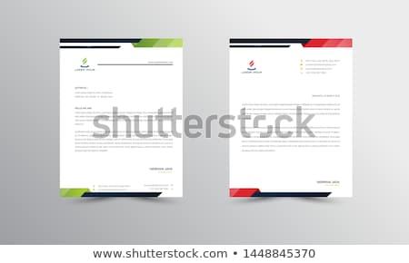 青 抽象的な ビジネス レターヘッド デザイン 手紙 ストックフォト © SArts