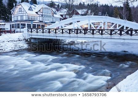Winter panorama of Hradec Kralove Stock photo © benkrut