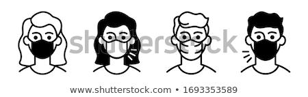 Monochrome Man Symbol Stock photo © lissantee