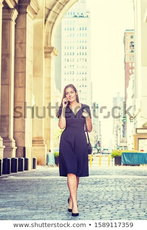 Short hair black high necked woman travel Stock photo © toyotoyo