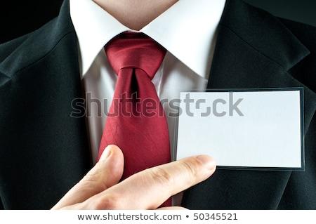 üzletember pontok név kitűző személyi igazolvány pop art Stock fotó © studiostoks
