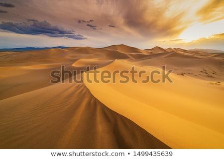 Stock fotó: Sivatag · kék · ég · nap · égbolt · természet · felhő