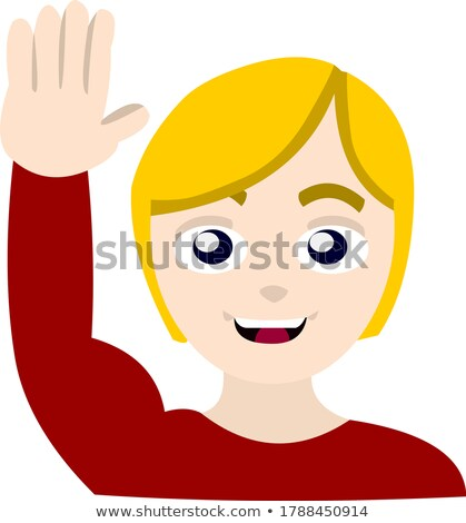 женщины смайлик привет девушки стороны Сток-фото © yayayoyo