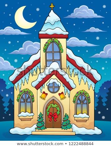 Сток-фото: здание · церкви · изображение · здании · лист · искусства · Церкви
