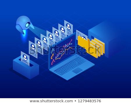 Robotics data analysis concept vector isometric illustration. Stock photo © RAStudio