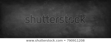 Stok fotoğraf: Slate Blackboard And Chalk