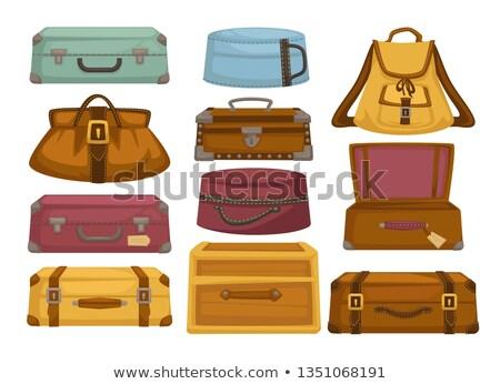 Saco manusear zíper viajar completo bagagem Foto stock © robuart