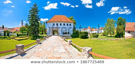 Historic town of Varazdin aerial panoramic view Stock photo © xbrchx