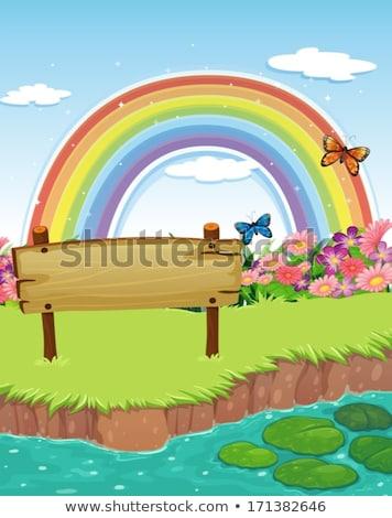 Houten boog oude plank horizontaal lege Stockfoto © sharpner