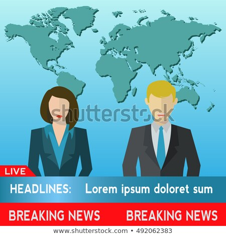 Breaking News TV, Speakers, Reporters, Announcers, Anchormans, Commentators Stock photo © smeagorl