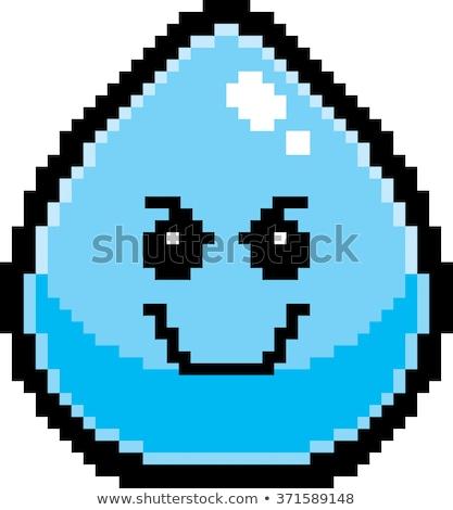 Lol desenho animado água ilustração gota de água olhando Foto stock © cthoman