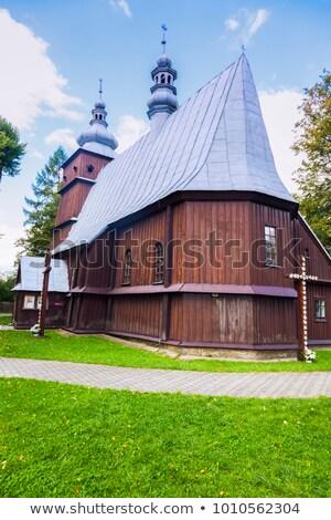 wooden church in podole stock photo © benkrut