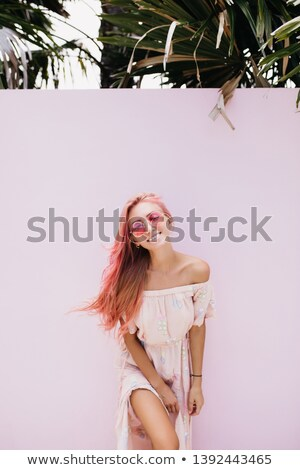 Enchanting blonde posing standing Stock photo © acidgrey