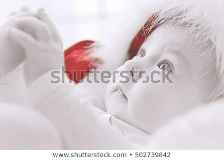 счастливым · мало · ребенка · костюм · рождество · дерево - Сток-фото © anna_om