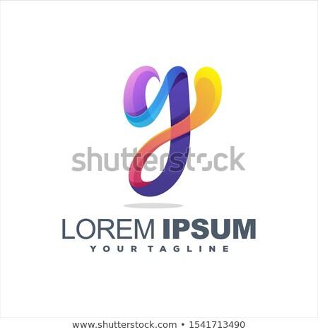 Zöld piros levél logotípus vektor logoterv Stock fotó © blaskorizov