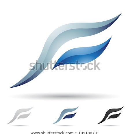 Black and Blue Glossy Letters of A and F Vector Illustration Stock photo © cidepix