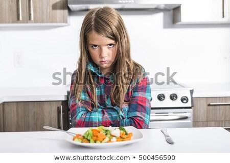 退屈な 新鮮な カラフル 野菜 子 少年 ストックフォト © Lopolo